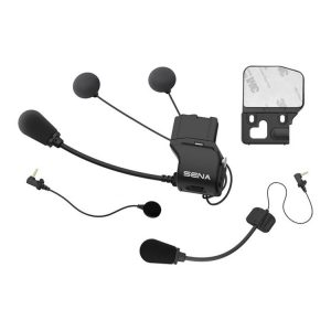 Replacement helmet clamp kit for the Sena 30K Bluetooth Headset, 20S EVO Bluetooth Headset and the 20S Bluetooth Headset. Slim speakers are more accommodating in helmets that lack deep speaker pockets or have an overall tight fit. Includes: Universal helmet clamp Wired boom microphone Wired microphone Speakers:32mm diameter x7mm thick will sit deeper within tapered speaker pockets than stock speakers Glued surface mounting adapter Speaker pads VELCRO® brand fastener pads for speakers VELCRO® brand fastener pad for boom microphone VELCRO® brand fastener pad for wired microphone Allen wrench SC-A0318